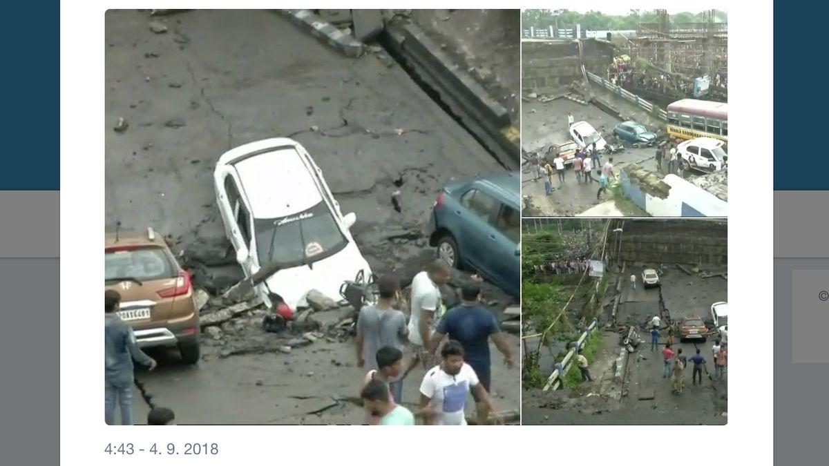V Kalkatě spadl most, v troskách zůstávají lidé