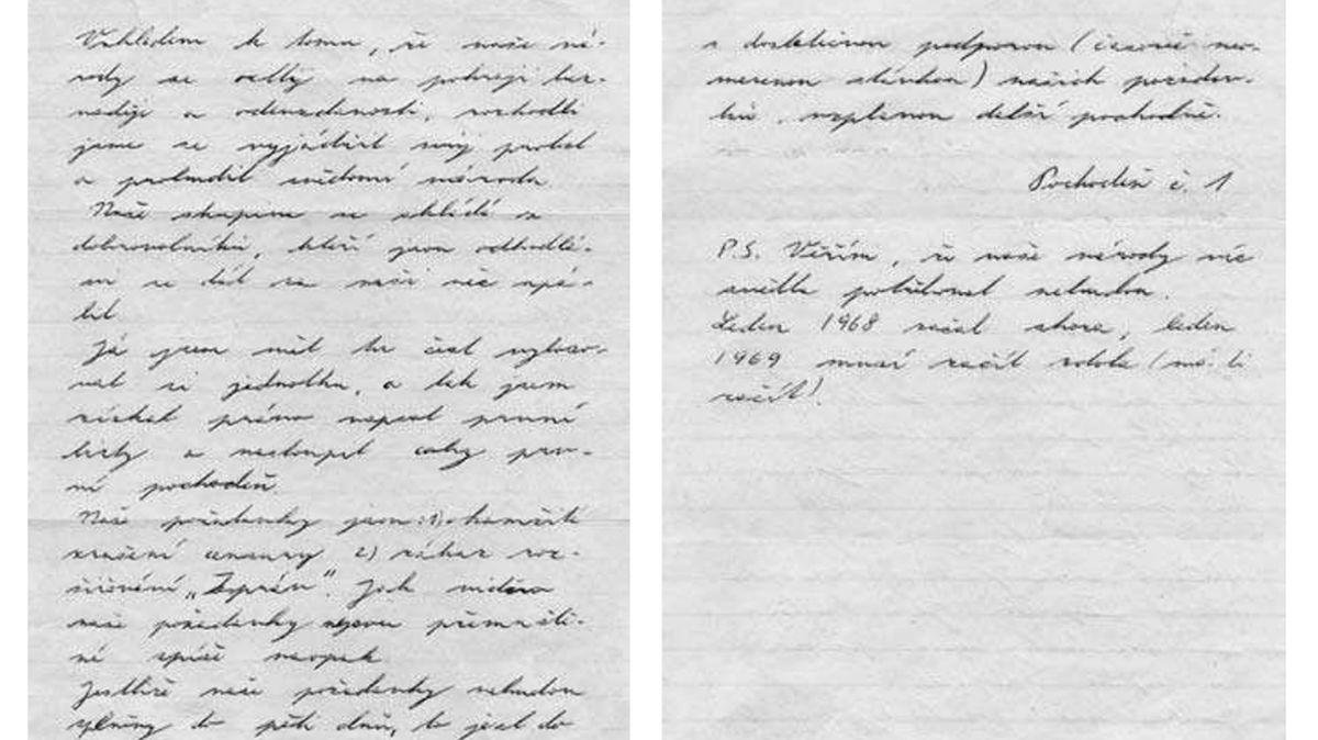 Dokument: Poslední slova Jana Palacha. Co vzkázal ve svém dopise?