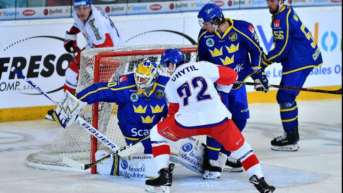 Sladká příprava na MS: Češi porazili Švédsko a trenérovi Říhovi stačí kdokonalosti maličkost