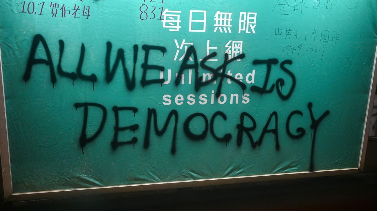 USA podpořily demonstranty vHongkongu, Čína se ostře ohradila
