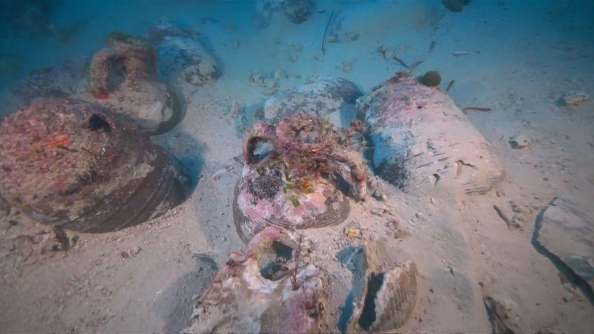 V Egejském moři bylo nalezeno 58antických a byzantských vraků