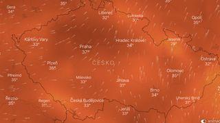 Saharský vítr promění Česko ve výheň. Tropická neděle přinese až 38stupňů Celsia