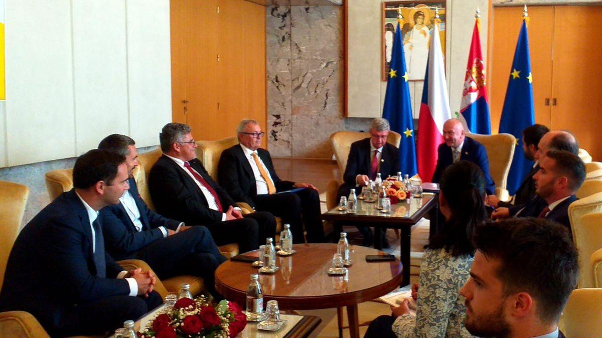 Zatímco prezident navrhuje zrušit uznání Kosova, čeští ministři rozvíjejí během státní návštěvy Srbska možnou spolupráci