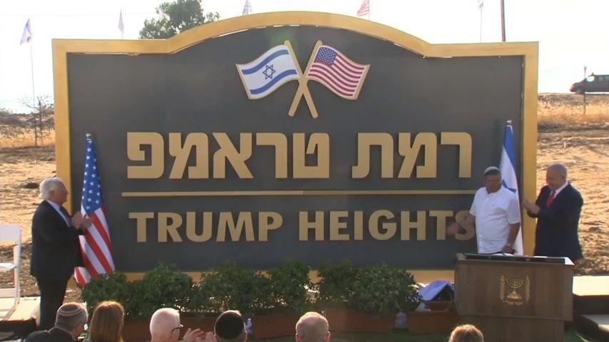 Trumpův vrch. Izrael pojmenoval část Golanských výšin podle amerického prezidenta
