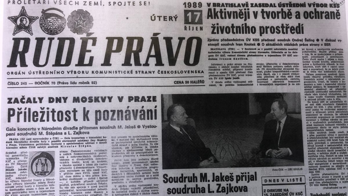 Dnes před 30lety. Michal Horáček vzpomíná na svůj podzim a stranický tisk informuje odívkách zKLDR