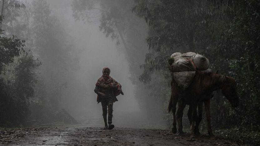 Zóna smrti. Vesničané prchají před vražděním, těla lemují silnice ipole