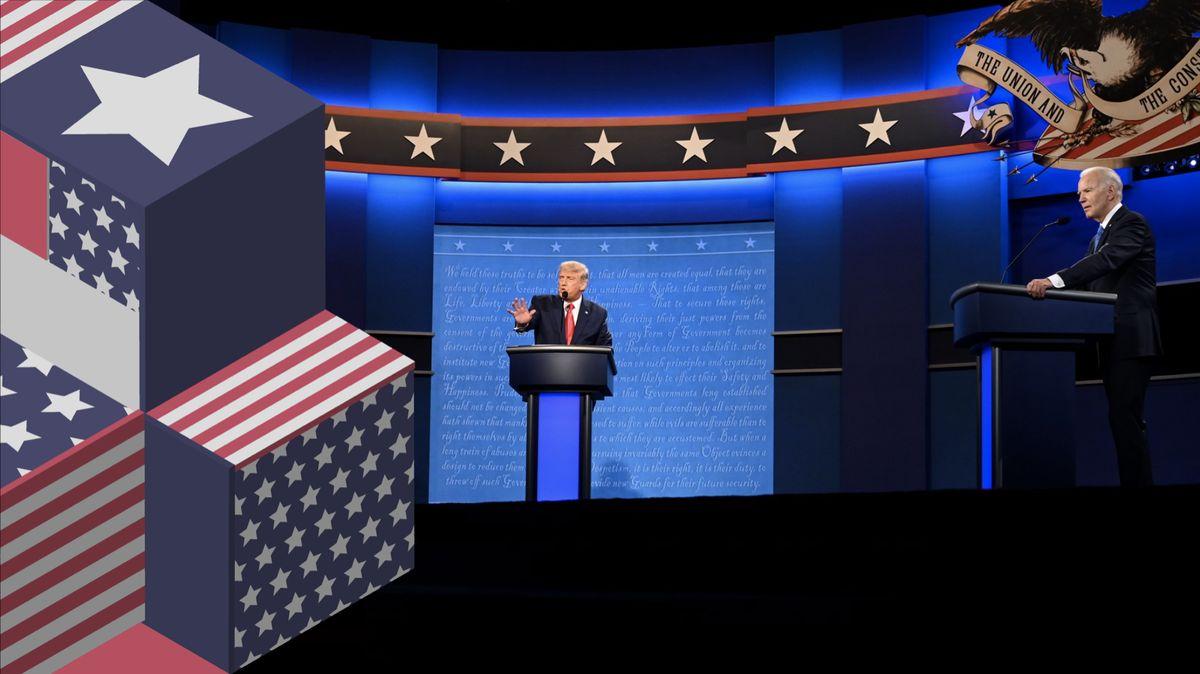 Poslední předvolební debata. Trump byl mírnější, průzkumy fandí Bidenovi