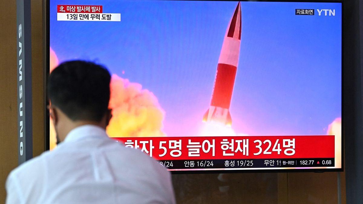 Severní Korea odpálila zakázanou balistickou raketu