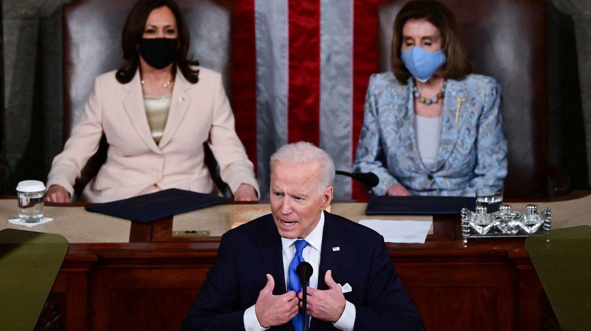 Biden mluvil vKongresu. Zmínil úspěšné očkování inapjaté vztahy sČínou