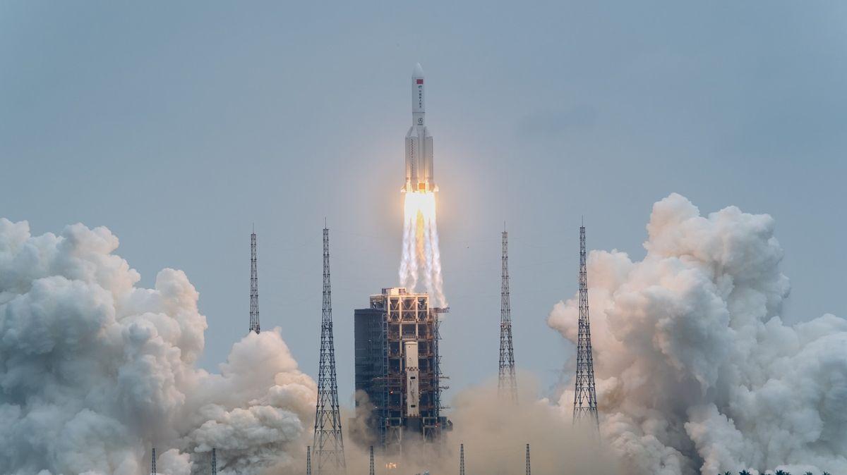 Čína vyslala raketu do vesmíru. Dopraví obytnou část pro budoucí stanici