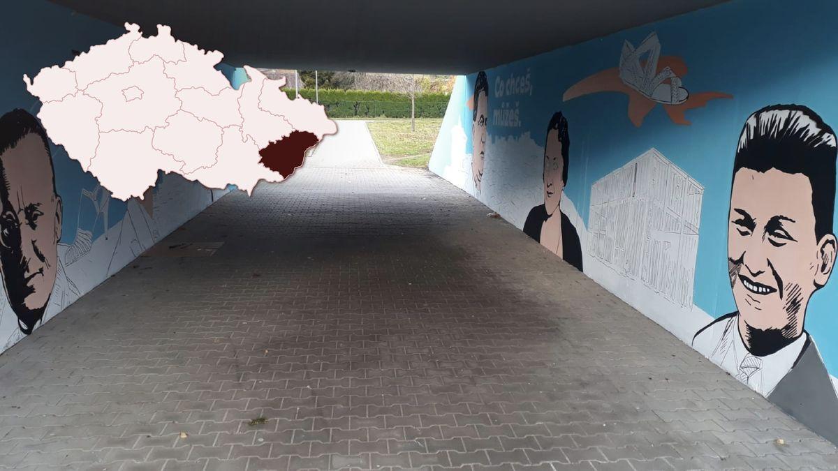 Podívejte se: Vzniká streetartové dílo smotivem baťovského fenoménu