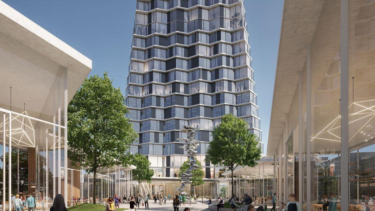 VOstravě chtějí postavit nejvyšší mrakodrap vČesku. Vypadá jako velké X