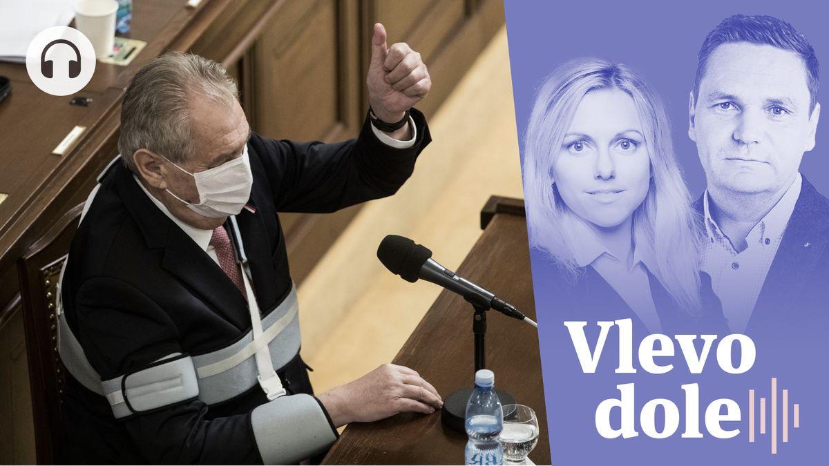 Vlevo dole: Ruský Sputnik slaví úspěch. Vzkřísil českého prezidenta