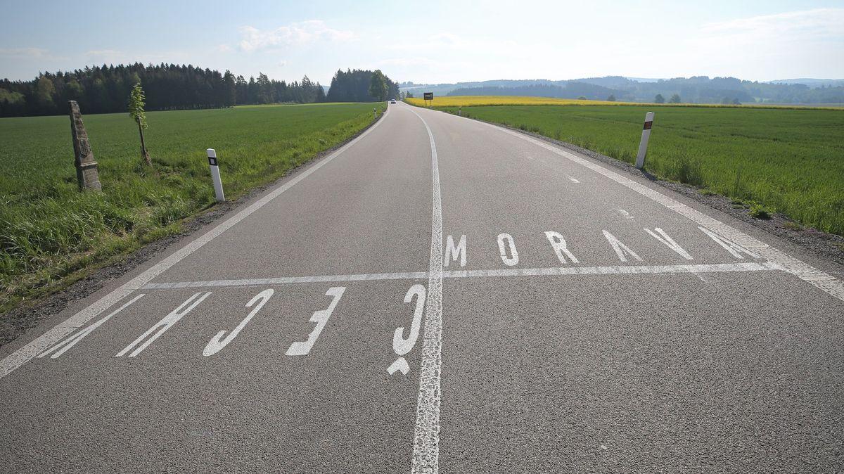 Namalovali hranici Čech a Moravy. Jen přestupek, policejní stíhání zastaveno