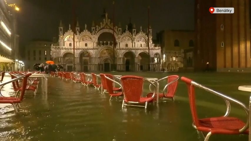 Video: Benátky zaplavila voda, může za to bouře nad Atlantikem
