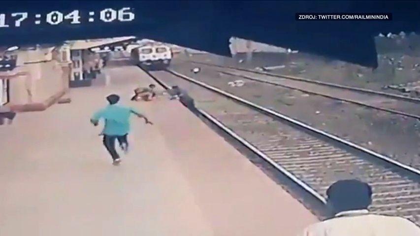 Video: ZInda se stal hrdina, pohotově zachránil chlapce zkolejiště