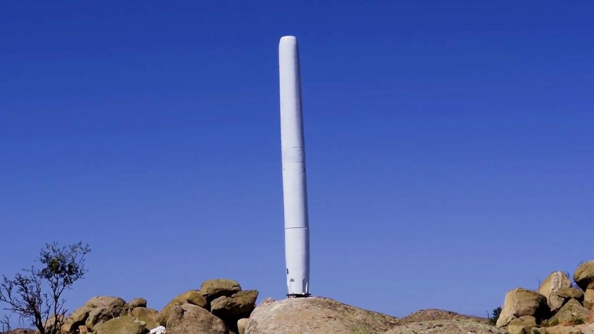 """Čím větší """"skybrator"""", tím lepší. Větrný mlýn bez vrtulí shání investora"""