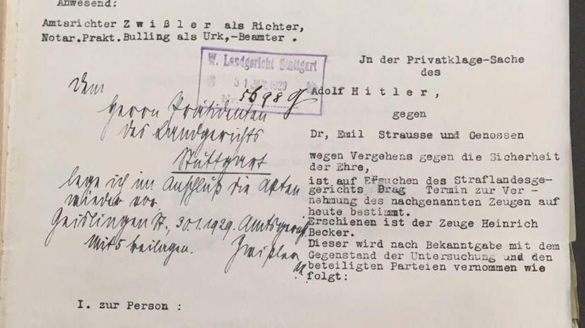 Soudil se sním Adolf Hitler, prý ho novinář urazil na cti