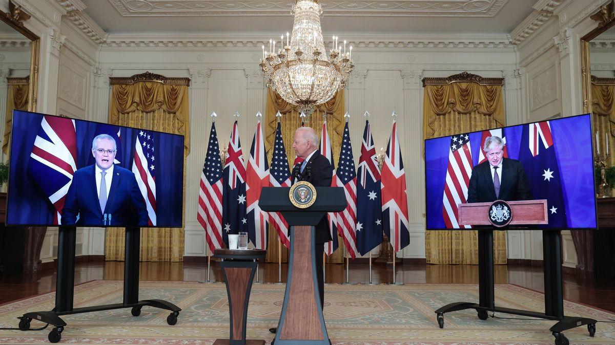 Spojené státy, Velká Británie a Austrálie vytvořily nový bezpečnostní pakt