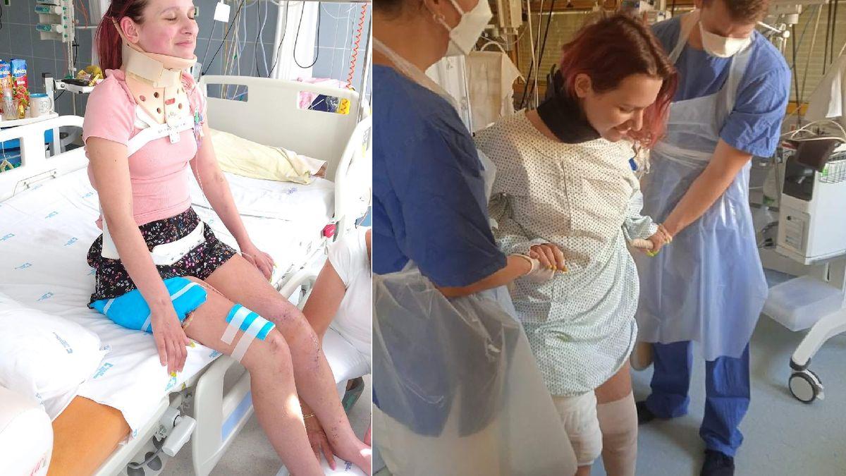 Pět operací. Mladá bojovnice zautobusu vtornádu nemůže hýbat jednou nohou