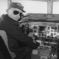 čtk: Niki Lauda v kokpitu letadla Lauda Air. 25. listopadu 1980, Salzburg