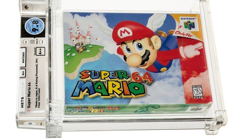 Padl nový aukční rekord. Super Mario překonal nejdražší hru Zelda