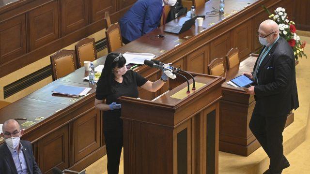 Video: Sněmovna má nový rituál. Po Volném nastupuje dáma shadříkem