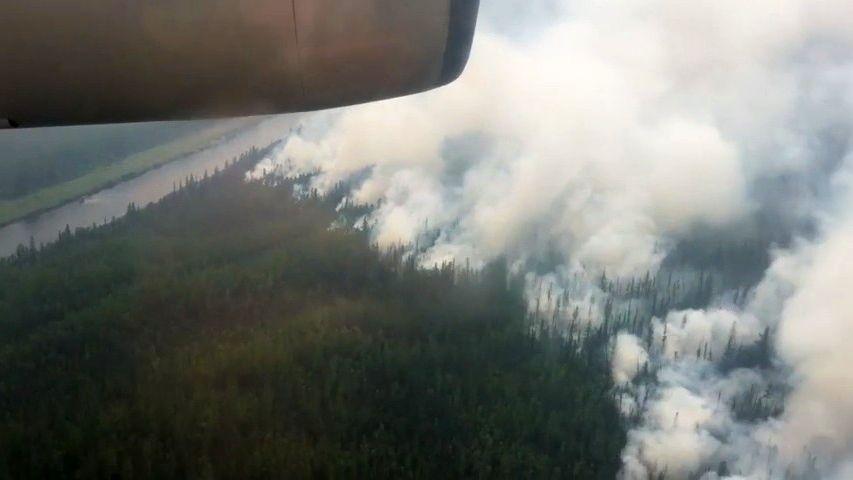 Video: Rusko trápí požáry, na Sibiři hoří plocha větší než Praha