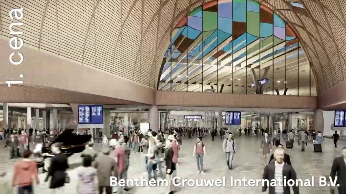 VBrně se dušují, že nádraží už fakt postaví. Video ukazuje, jak má vypadat