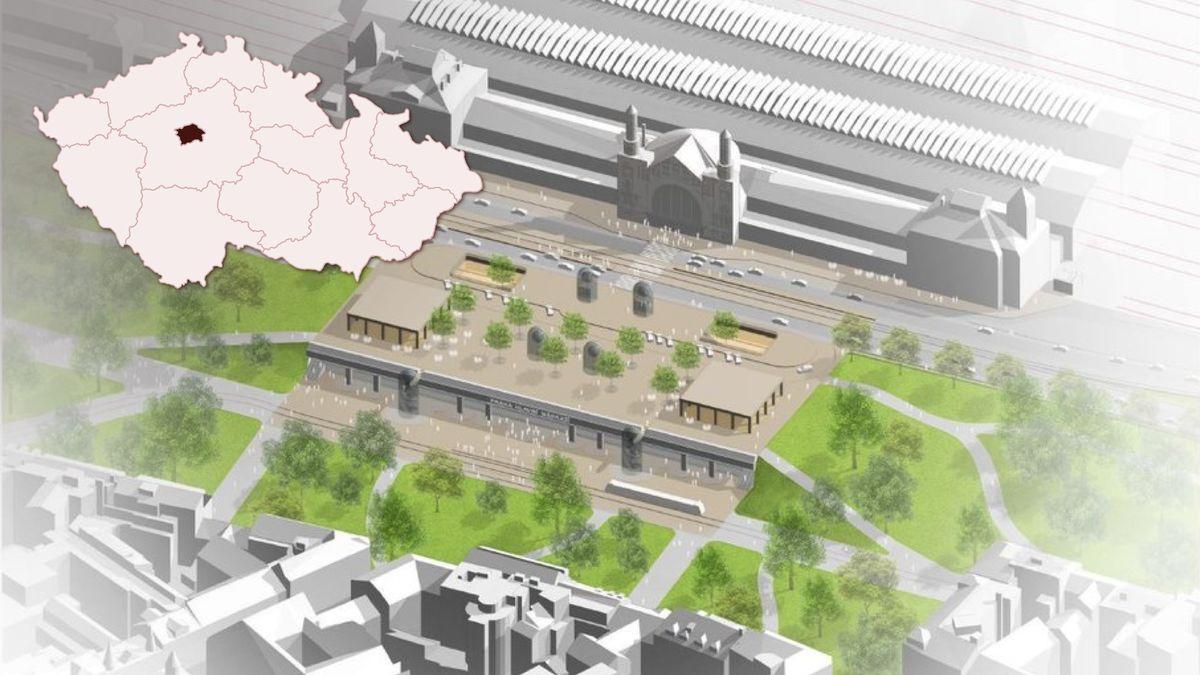 Stát upraví Hlavní nádraží vPraze, na střeše budou nové pavilony