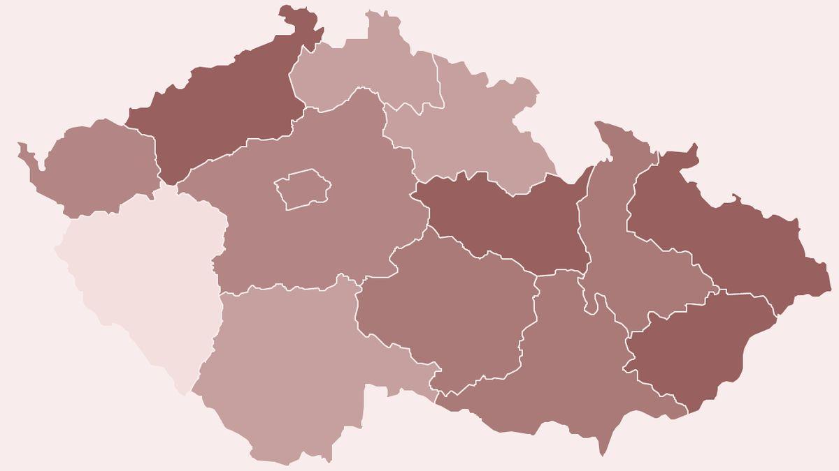 Česko vtrasování selhává, jeden kraj zcela propadl