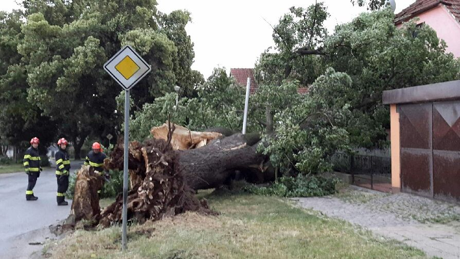 Létaly střechy, stromy padaly na paneláky. Moravu zasáhla silná bouře