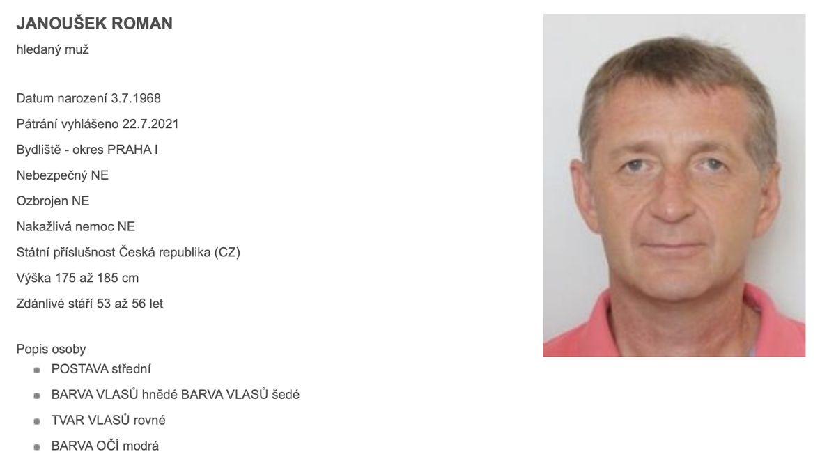 Policie Janouška nevypátrala, nakonec nastoupil do věznice dobrovolně