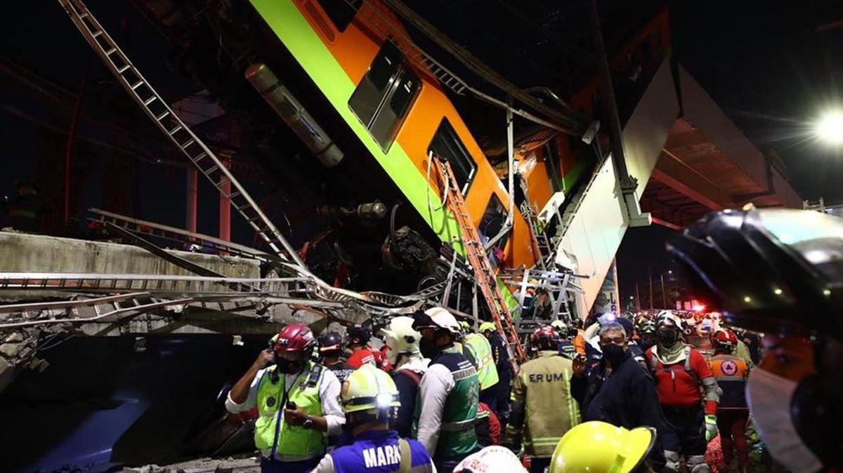 VMexiku se zřítilo metro. Nejméně 23mrtvých a 70zraněných