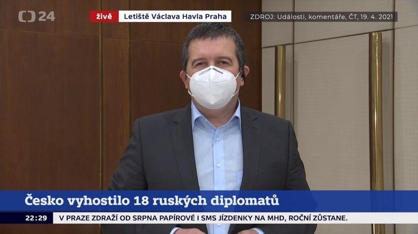 Hamáček vyzradil působení českých špionů. Moskva žádá okamžité vysvětlení