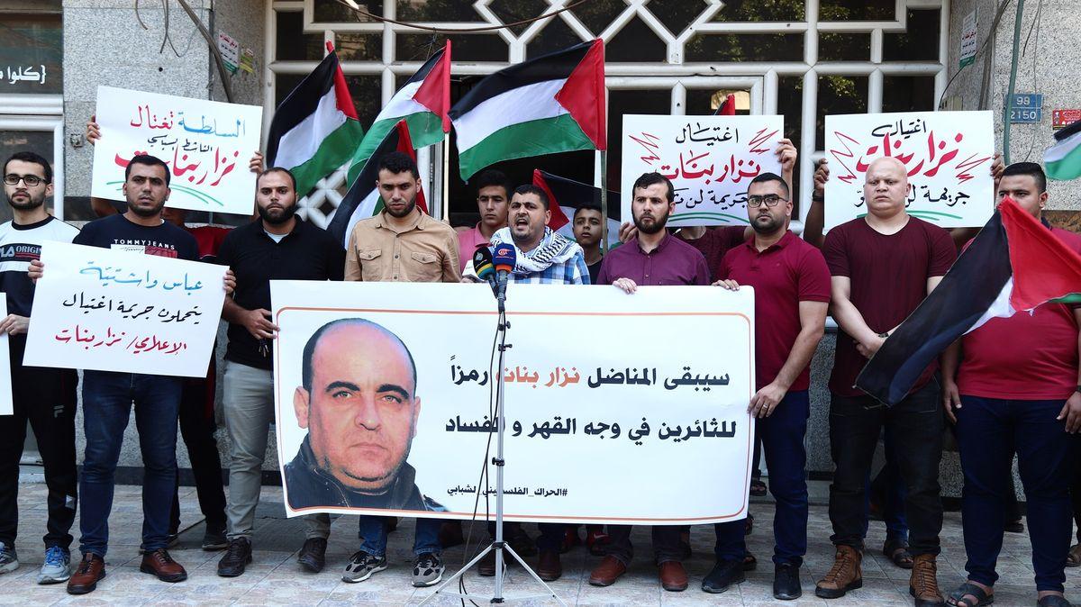 Kritika palestinské samosprávy Banáta podle pitvy ubili při zatýkání