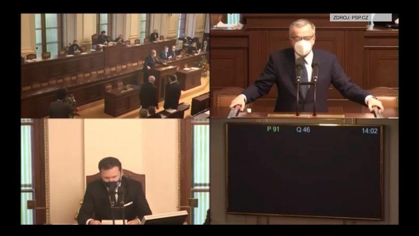 Video: Tak se loučil Miroslav Kalousek. Smířlivý projev dojal Sněmovnu
