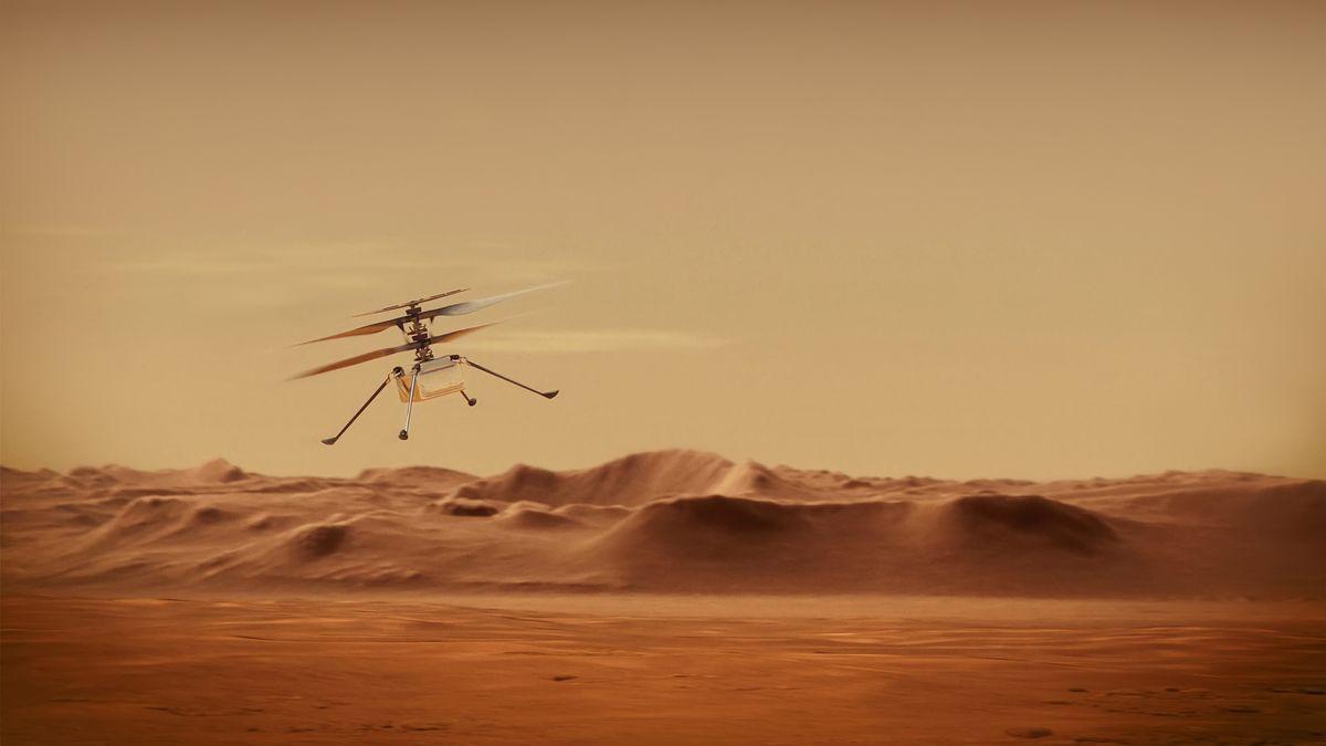 Video: Vrtulníček Ingenuity měl při šestém letu na Marsu potíže