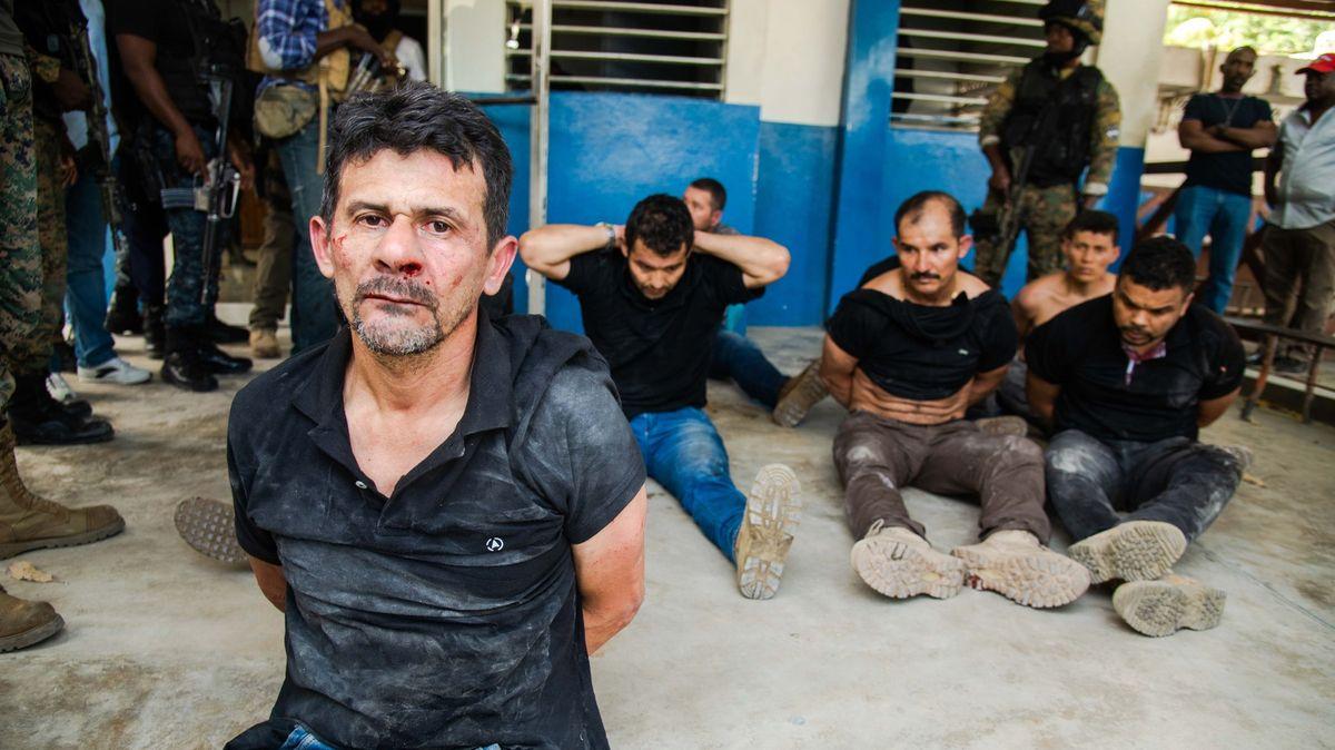 Záběry členů zahraničního komanda, kteří dle policie zavraždili prezidenta Haiti